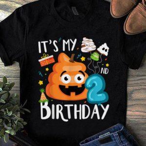 Top It's My 2nd Birthday Poop Halloween Birthday Kids shirt