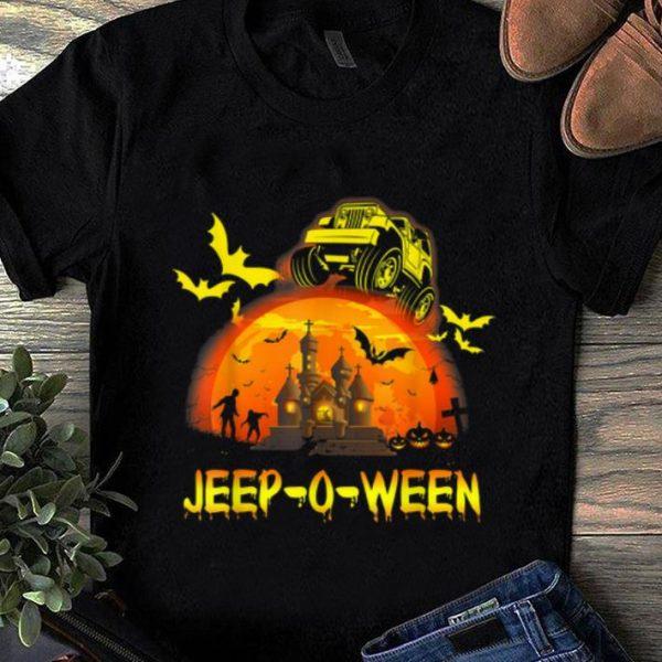 Top Jeep-o-ween Jeep Halloween Distressed Halloween Gift shirt