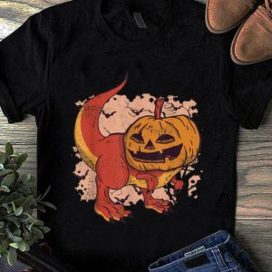 Top Pumpkin Head Dinosaur Jack O Lantern Halloween shirt