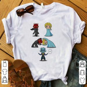 Top White Walker And Elsa Princess Combined shirt