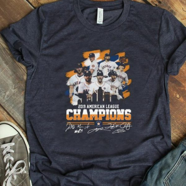 Awesome American League Champions Houston Astros 2019 Signatures shirt