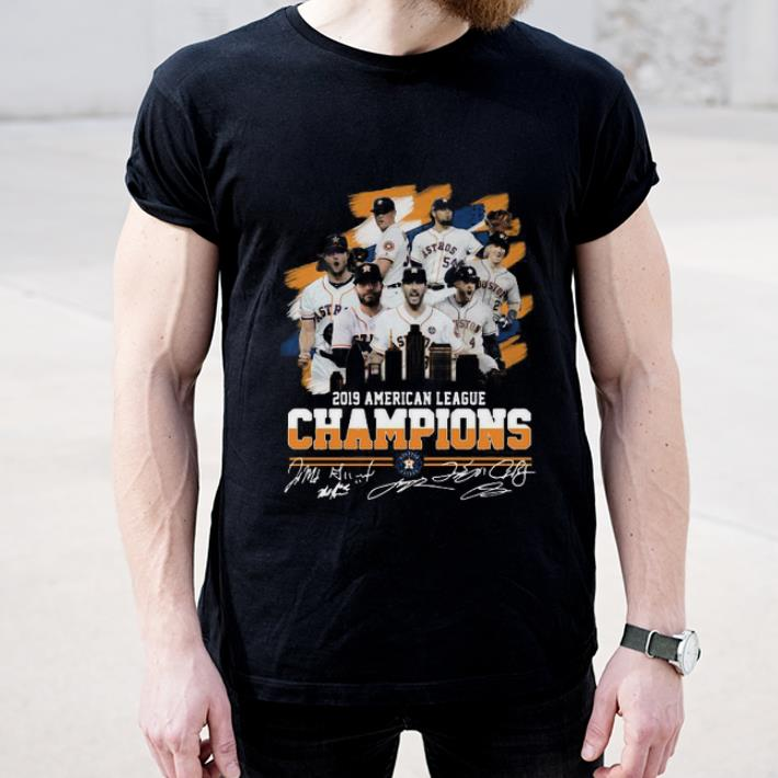 Awesome American League Champions Houston Astros 2019 Signatures shirt 4 - Awesome American League Champions Houston Astros 2019 Signatures shirt