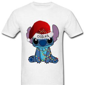 Awesome Ohana Stitch Disney Christmas Light shirt