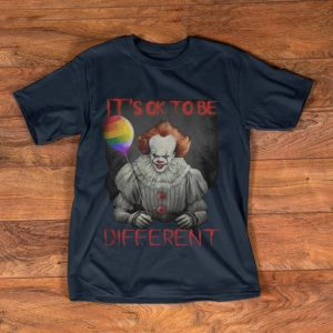 Awesome Pennywise ITs Ok To Be Different Rainbow Balloon shirt