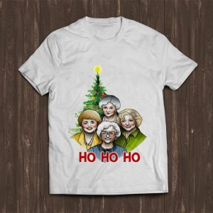 Awesome The Golden Girl Ho Ho Ho Christmas Tree shirt