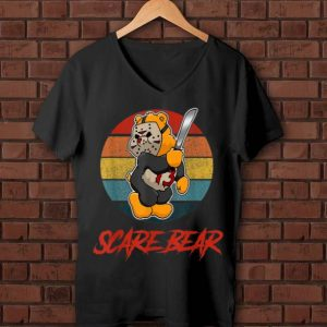 Awesome Vintage Scare Bear Halloween Scary Horror shirt