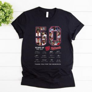 Awesome Washington Nationals 50 Years Thank You For The Memories signature shirt