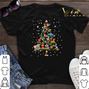 Christmas Trees Disney cartoon characters shirt