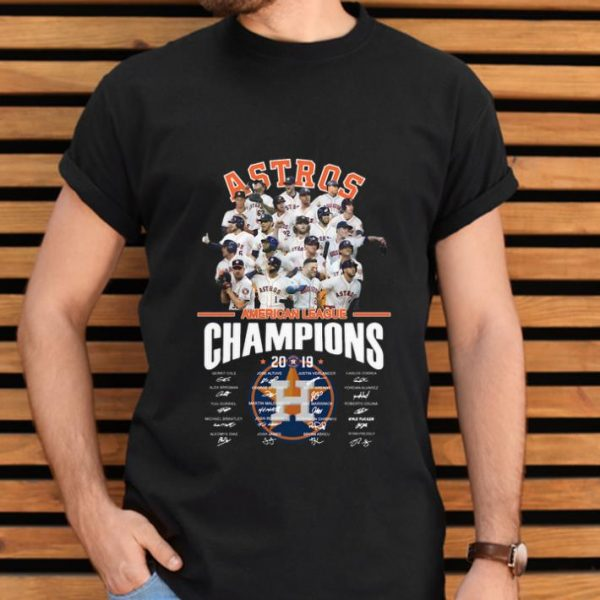 Funny American League Champions 2019 Houston Astros signatures shirt