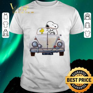 Funny Snoopy and woodstock driving Volkswagen Beetle shirt sweater