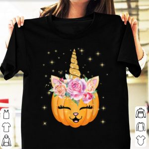 Hot Cat Unicorn Halloween Thanksgiving Girls Cute Unicorn shirt