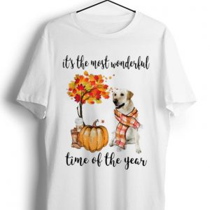 Hot It's The Most Wonderful Time Of The Year Labrador Pumpkin shirt