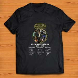 Hot Star Wars 42nd Anniversary 1977 2019 Signatures shirt