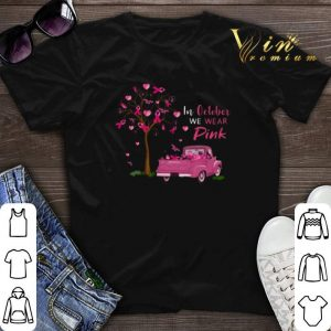 In october we wear pink truck breast cancer awareness shirt sweater