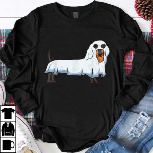 Nice Ghost Dachshund Spooky Dog Wiener Halloween Costume shirt
