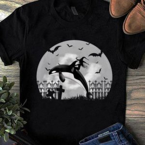 Nice Orca Killer Whale Moonlight Funny Halloween Costume shirt