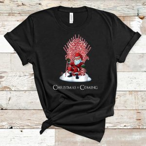 Nice Santa Candy Cane Throne Christmas Is Coming shirt