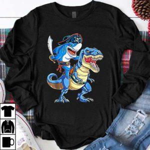 Nice pirate shark dinosaur halloween costume gift shirt