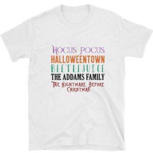 Official Beetlejuice The Addams Family Hocus Pocus Halloweentown shirt