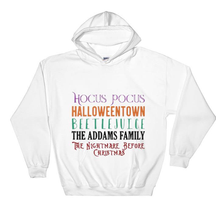 Official Beetlejuice The Addams Family Hocus Pocus Halloweentown shirt 4 - Official Beetlejuice The Addams Family Hocus Pocus Halloweentown shirt