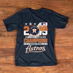 Official Champions Houston Astros 2019 Al West Division shirt