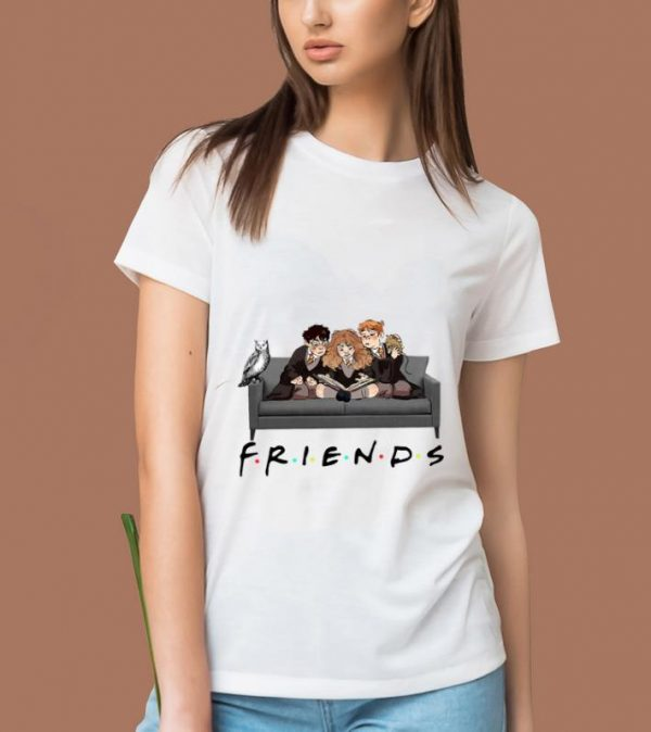 Official Friends TV Show Harry Potter Hermione And Ron Weasley shirt