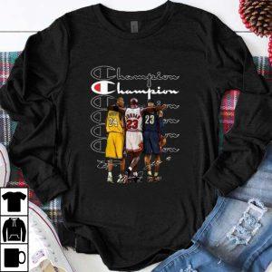 Official Kobe Bryant Michael Jordan and LeBron James Champion signatures shirt