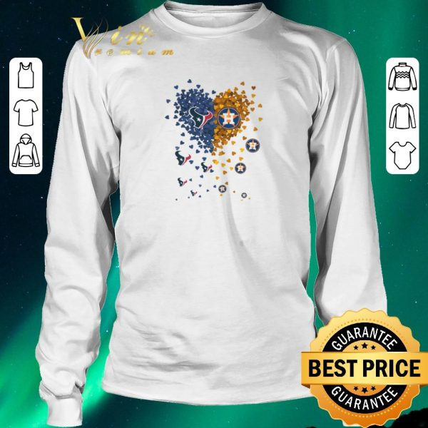 Official Love Houston Texans Houston Astros heart shirt sweater