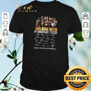 Official Thank you for the memories The Walking Dead 10th anniversary shirt