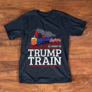 Official Vintage All Aboard The Trump Train 2020 American Flag shirt