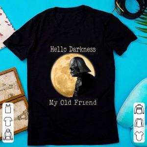 Original Hello Darkness My Old Friend Darth Vader Moon shirt