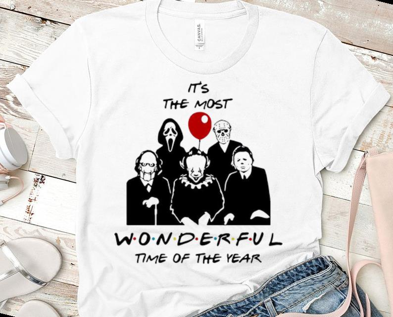 Original Horror Characters It s The Most Wonderful Time Of The Year shirt 1 - Original Horror Characters It's The Most Wonderful Time Of The Year shirt