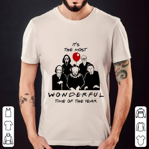 Original Horror Characters It's The Most Wonderful Time Of The Year shirt