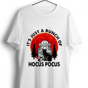 Original It's Just A Bunch Of Hocus Pocus Halloween Black Cat shirt