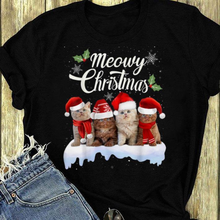 Original Meowy Christmas Kitten Kitty Xmas Cat Lovers shirt 4 - Original Meowy Christmas Kitten Kitty Xmas Cat Lovers shirt