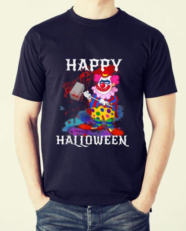 Original Psycho Killer Clown Happy Halloween Party Tee shirt