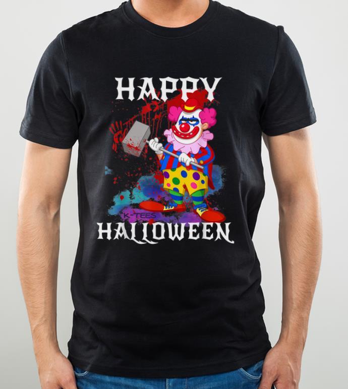 Original Psycho Killer Clown Happy Halloween Party Tee shirt 4 - Original Psycho Killer Clown Happy Halloween Party Tee shirt