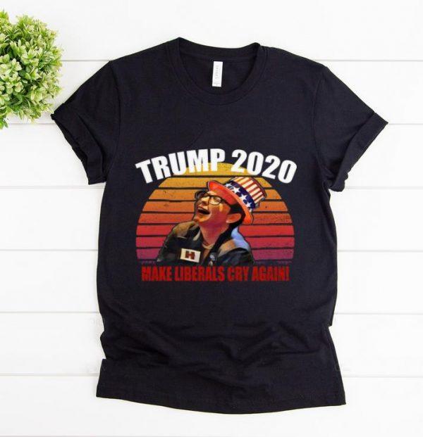 Original Trump 2020 Make Liberals Cry Again Vintage Sunset shirt
