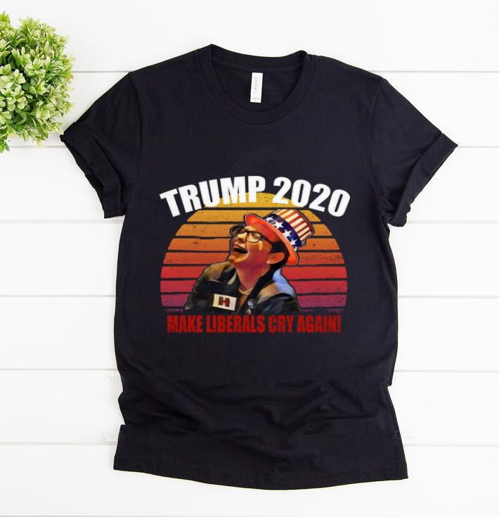 Original Trump 2020 Make Liberals Cry Again Vintage Sunset shirt 1 - Original Trump 2020 Make Liberals Cry Again Vintage Sunset shirt
