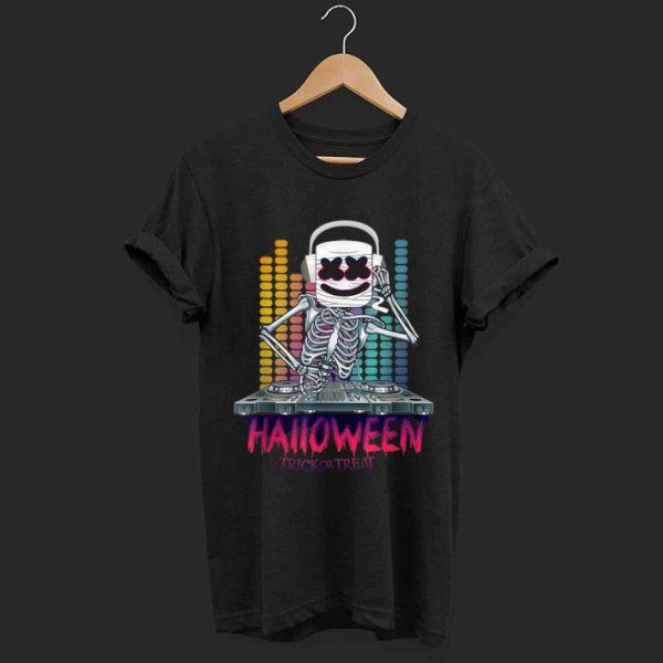 Premium Halloween Trick Or Treat Dancing Dj Goofy Marshmallow shirt