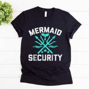 Premium Mermaid Security Swimmer Birthday Gift Swimming shirt