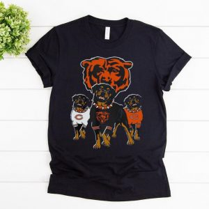 Premium Rottweiler Dog And Logos Of The Chicago Bears shirt