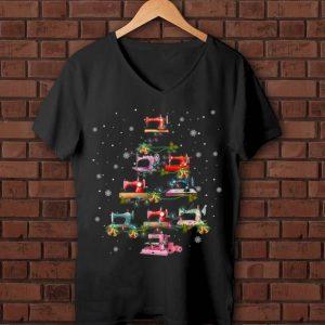Premium Sewing Machine Christmas Tree Quilting Lovers shirt