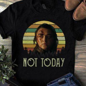Premium Sunset Game of Thrones Arya Stark Not Today shirt