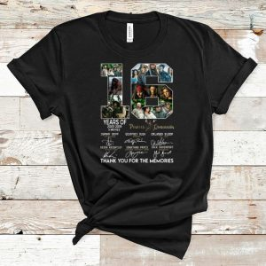 Pretty 16 Years Of Pirates The Of Caribbean Thank You For The Memories Signatures shirt