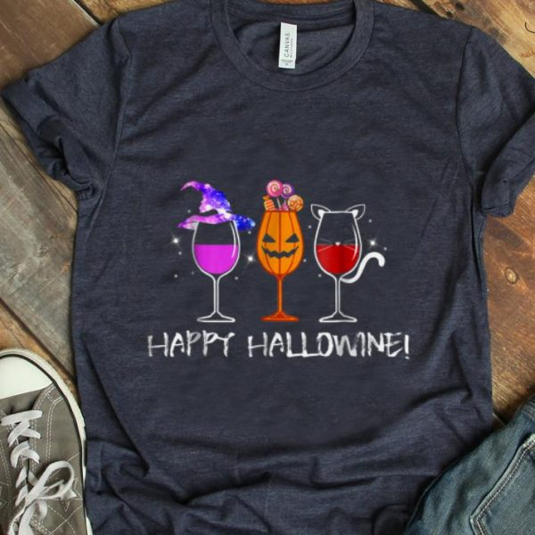 Pretty Happy Hallowine Gift For Halloween shirt