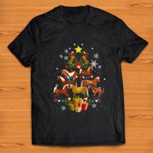 Pretty Horse Tree Christmas Horse Lover shirt