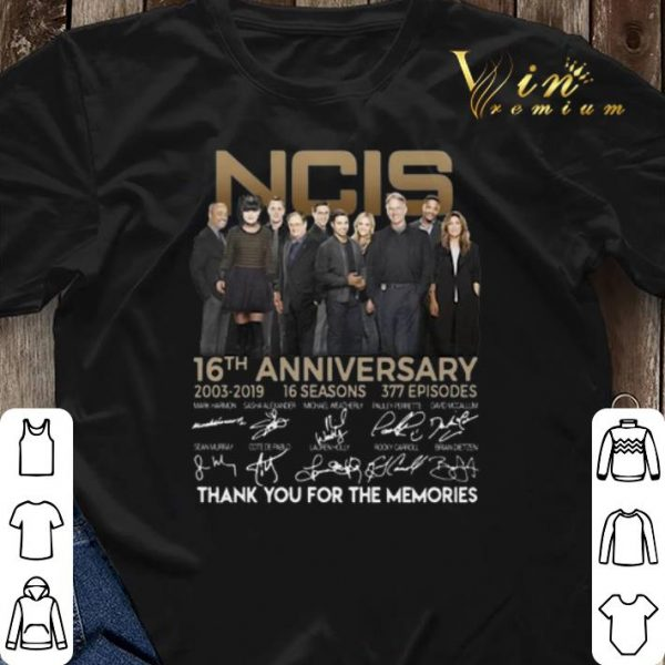 Thank you for the memories NCIS 16th anniversary 2003 2019 signature shirt