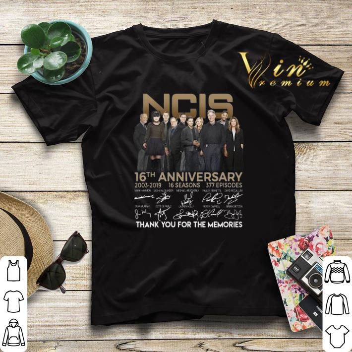 Thank you for the memories NCIS 16th anniversary 2003 2019 signature shirt 4 - Thank you for the memories NCIS 16th anniversary 2003 2019 signature shirt