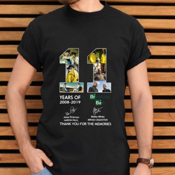 Top 11 Years of Breaking Bad Thank You For The Memories Signatures shirt
